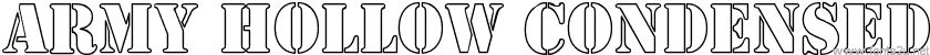 Army Hollow Condensed