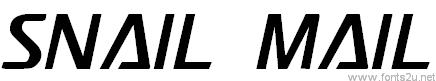 Snail Mail LDO