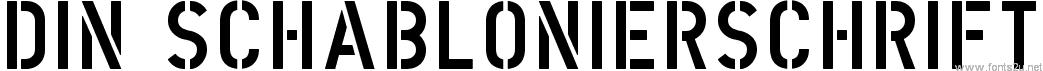DIN Schablonierschrift