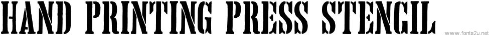 Hand Printing Press Stencil_dem