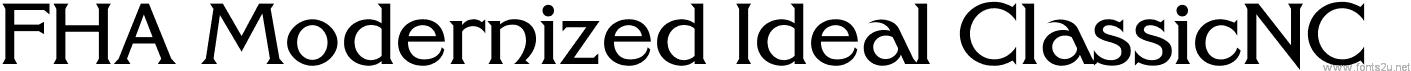 FHA Modernized Ideal ClassicNC
