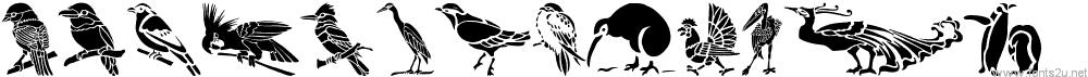HFF Bird Stencil