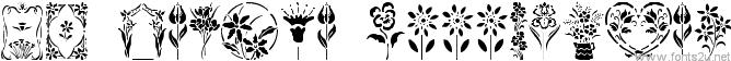 GE Floral Stencils
