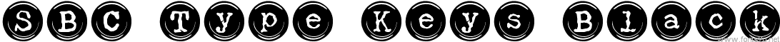 SBC Type Keys Black