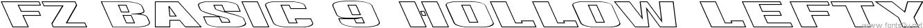 FZ BASIC 9 HOLLOW LEFTY