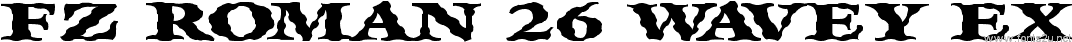 FZ ROMAN 26 WAVEY EX