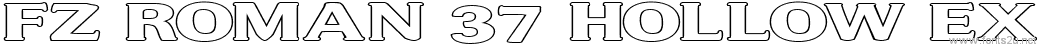 FZ ROMAN 37 HOLLOW EX