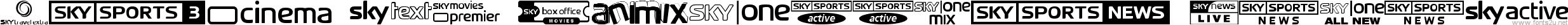 Sky TV Channel Logos