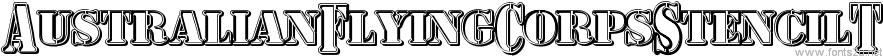AustralianFlyingCorpsStencilT