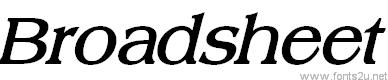 Broadsheet LDO