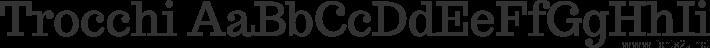 Trocchi Oblique Stencil